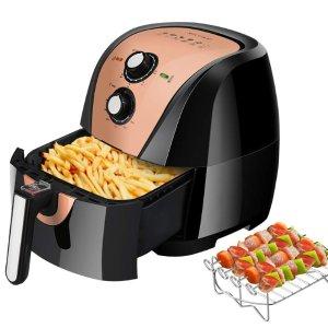 $74.99限今天:Secura 5.3夸脱超大容量空气炸锅 附带烤架和食谱
