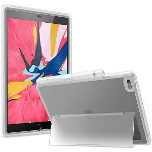 """YOUMAKER iPad 10.2"""" Frosted Clear Kickstand Case"""
