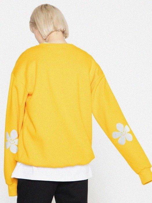 黄色花朵卫衣