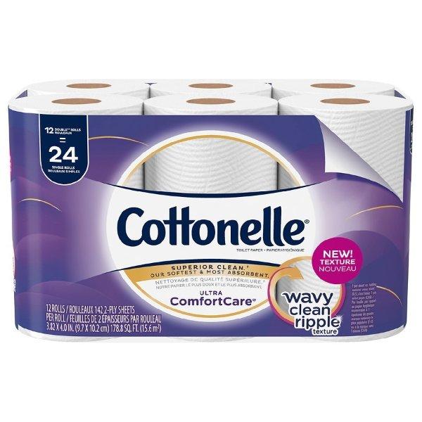 Cottonelle 超柔软双层卫生纸 142片/卷 12卷