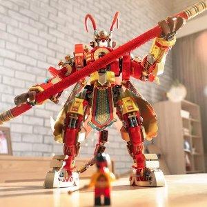 售价€129.99 中国版变形金刚LEGO 80012 齐天大圣黄金机甲 他踩着筋斗云来啦