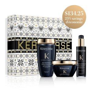 Kerastase适合所有发质 全效呵护黑钻洗护套装