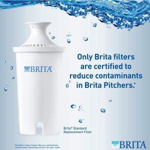 现价$11.68(原价$21.97)白菜价:Brita 家用滤水壶滤芯 3支装 过滤重金属 改善水质