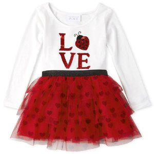The Children's PlaceBaby And Toddler Girls Little Love Bug Tutu Dress