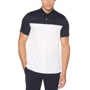 Perry EllisTotal Stretch Slim Fit Color Block Shirt