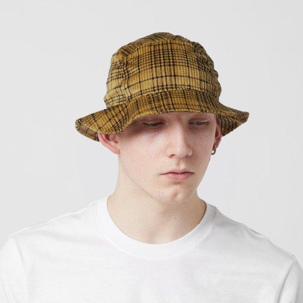 黄色格纹渔夫帽