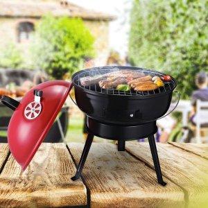 3折起 烧烤炉$44.99Aosom 夏日限时促销 户外烧烤炉、露营装备等好价热卖