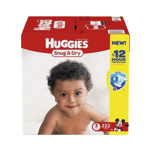 $26.21HUGGIES Snug & Dry Diapers, Size 3, for 16-28 lbs., One Month Supply (222 Count) of Baby Diapers, Packaging May Vary