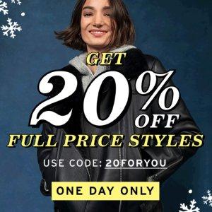 全场8折 €20收V领开衫限今天:Topshop 限时闪促 冬季大衣外套、毛衣针织衫全都有