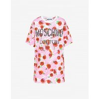 Moschino Logo玫瑰裙