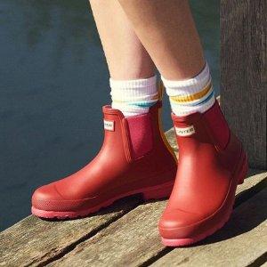 折扣区5折 鞋子$24起Hunter 英国皇室专用雨靴、雨衣特卖