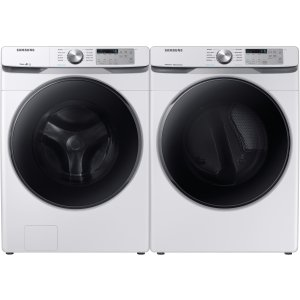 Samsung SAWADREW61001 Side-by-Side Washer & Dryer Set with Front Load Washer and Electric Dryer in White
