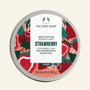 The Body Shop草莓身体乳