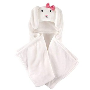 Hudson BabyUnisex Baby and Toddler Hooded Plush Blanket, Bunny, One Size