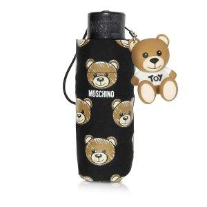 MoschinoBrush Bear All-Over Print Super Mini Umbrella
