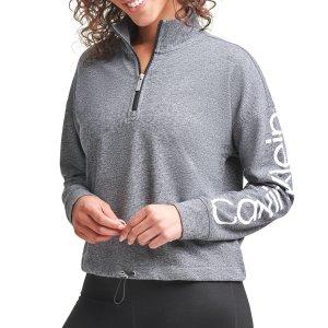 $9.8Calvin Klein 女士Logo半拉链卫衣