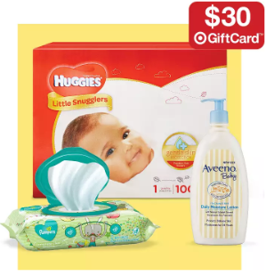 Free $30 Gift Cardwith $100 Diapers, Wipes & Toiletries @ Target.com
