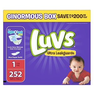 $25Luvs Ultra Leakguards Disposable Diapers
