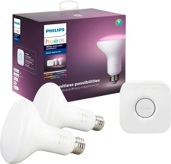 Philips Hue White & Color BR30 彩色智能灯泡 入门套装