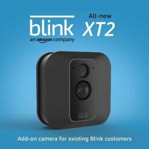 $69.99 双向通话, 2年续航Blink XT2 室内外通用 1080P 无线智能监控摄像头 带云存储