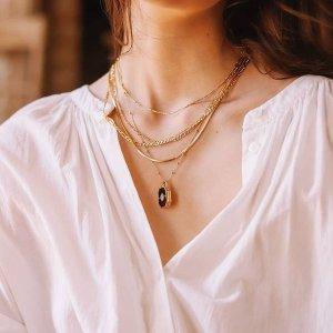 无门槛7.5折 €80收绿宝石项链黑五价:Missoma大促 收时尚博主最爱硬币项链、小方绿宝石