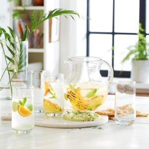 低至2.1折 烟灰色水杯$1.25/只史低价:Libbey Cabos 玻璃杯热卖 16件水杯$19.9 美国制造