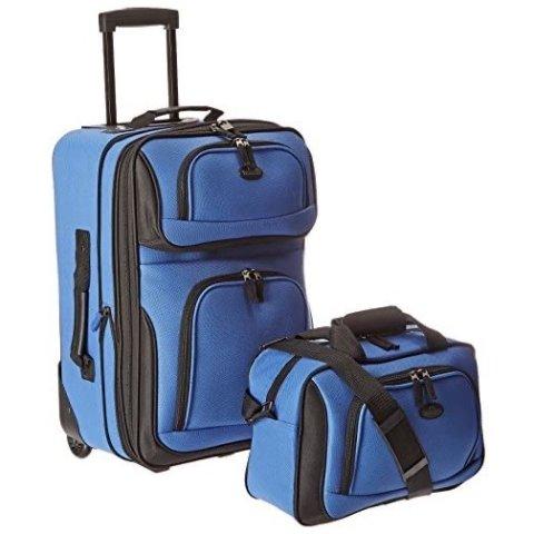 U.S. Traveler Rio Rugged Fabric Carry-On Set, 2-Piece Set