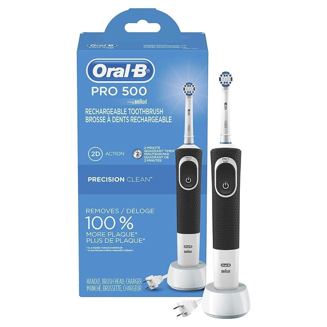 Oral-B Pro 500电动牙刷 自动定时提醒