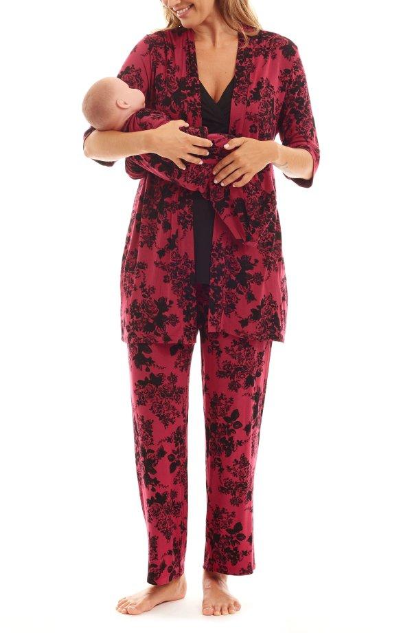 孕期哺乳期睡衣5件套