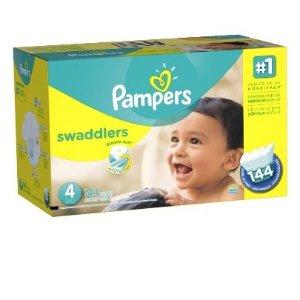 $32.42(原价$40.5)Pampers Swaddlers婴儿纸尿裤超大包装(1-6号,100-216片)