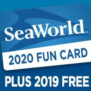 一日票价入手2020年卡+今年免费入园奥兰多 SeaWorld 2020年年卡提前购特惠活动