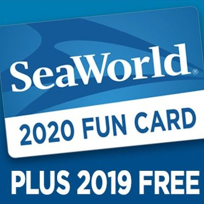 Get The Rest of 2019 FREE.SeaWorld Orlando 2020 SeaWorld Orlando Fun Card