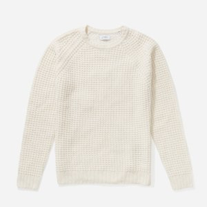 Miguel Waffle Knit Sweater Ivory