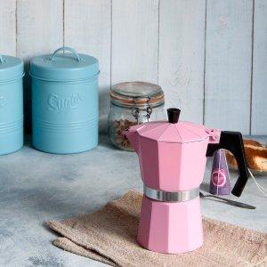£4.95小清新意式浓缩咖啡壶 给你满满少女心