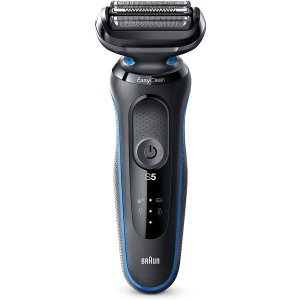 BraunSeries 5 50-B1000S Electric Shaver, Wet Dry, Rechargeable, Cordless Foil, Blue