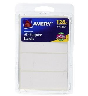 $1.63Avery All-Purpose Labels, 1 x 2.75 Inches, White, Pack of 128 (6113)