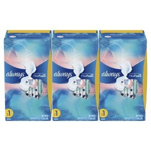 $11.12Always Infinity Regular Sanitary Pads with Wings, Unscented, 108 Count