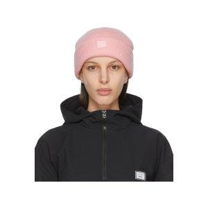 Acne Studios粉色笑脸帽