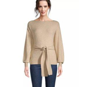 Ann TaylorCozy Tie Waist Sweater