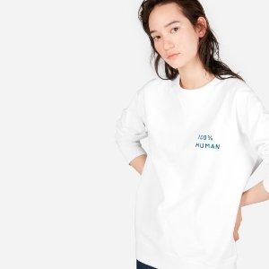 EverlaneThe 100% Human Pride Unisex French Terry Sweatshirt in Small Print