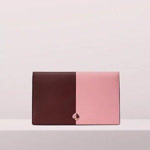 Kate Spadenicola bicolor clutch wallet