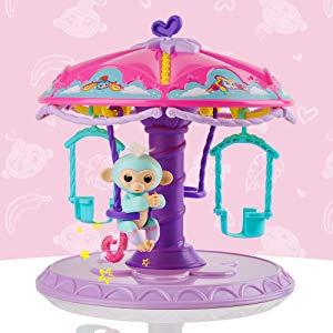 $34(原价$39.99)WowWee Fingerlings 儿童指间猴旋转木马玩具套装,敲梦幻