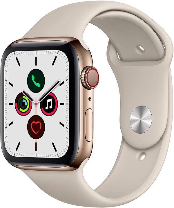Apple Watch Series 5 (蜂窝网络版, 44mm) 智能手表