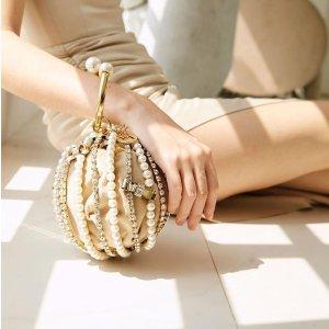 低至2折+最高额外5折Luisaviaroma 折扣专区  BBR半月包$364,Rosantica珍珠手提包$782