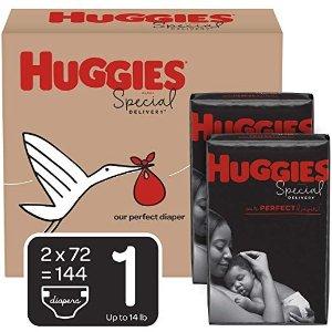 Huggies防过敏尿不湿1号 (8-14 磅.), 144 片