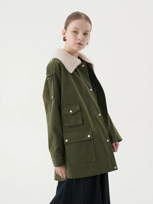 军绿色棉衣外套
