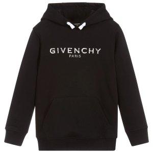 Givenchylogo 黑色经典连帽卫衣