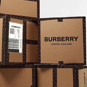 低至3折  经典风衣、logo卫衣收起来最后20分钟:Burberry 英伦风格子美衣、美包热卖