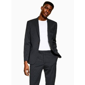 Topman2 Piece Navy Premium Pinstripe Slim Fit Suit With Notch Lapels