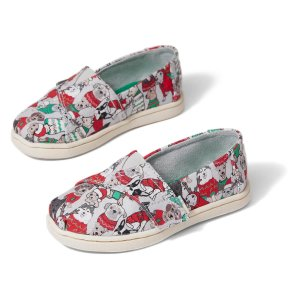 TomsGLACIER GREY Sweater Dogs Print Tiny TOMS Classics | TOMS